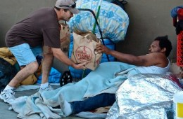Volunteers helping L.A.'s homeless; Credit: Operation: Help the Homeless