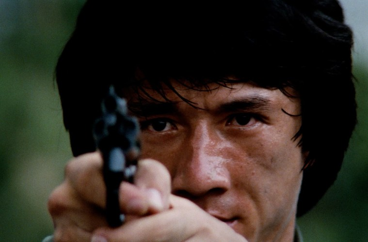 Jackie Chan gained international fame in Police Story (1985).; Credit: Janus Films