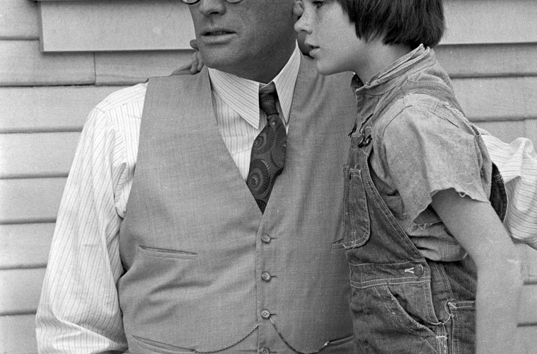 Gregory Peck and Mary Badham in classic To Kill a Mockingbird; Credit: Universal Pictures