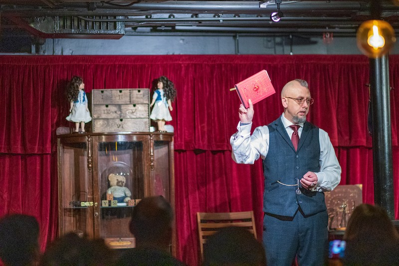 Aiden Sinclair talks ghostly encounters.; Credit: Courtesy Queen Mary