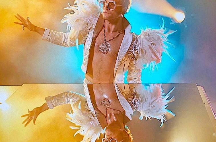 Taron Egerton in Rocketman; Credit: Paramont Pictures