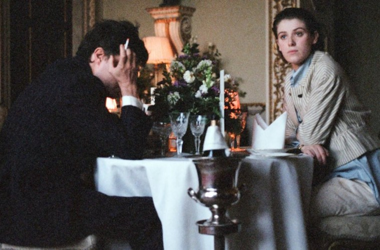 Tom Burke and Honor Swinton Byrne in The Souvenir; Credit: A24