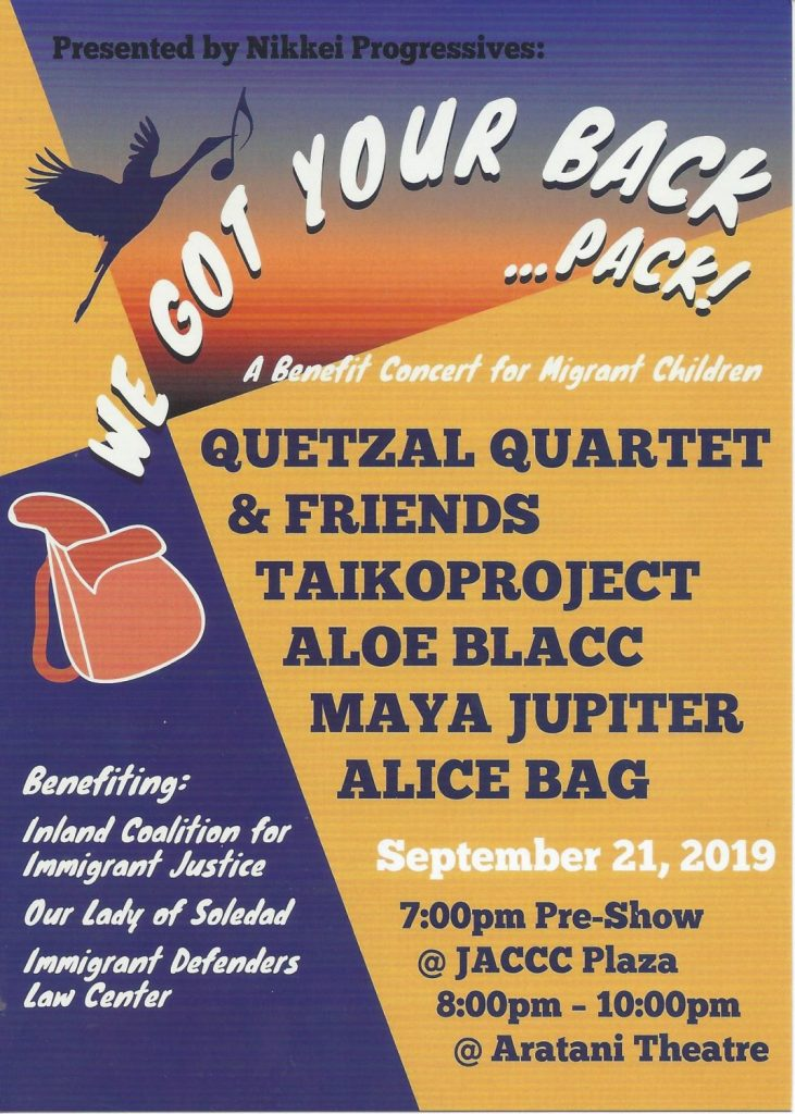 We Got Your Back…Pack–Benefit Concert for Migrant Children