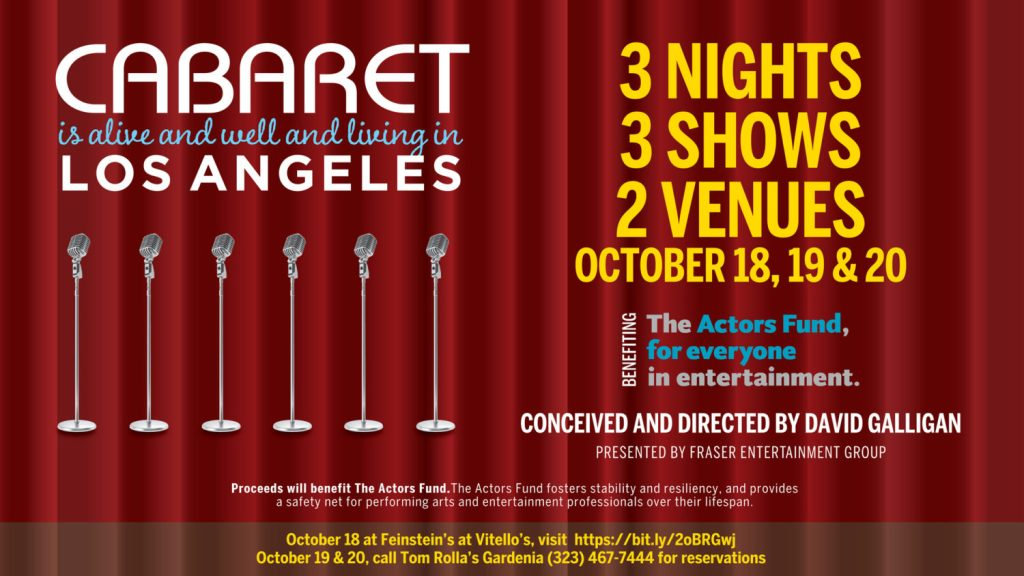 Cabaret is Alive and Well and Living in Los Angeles