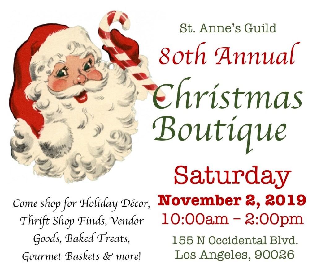 St. Anne's Guild Christmas Boutique