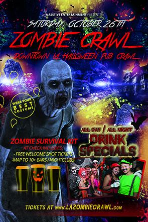 LA Zombie Crawl Halloween Pub Crawl