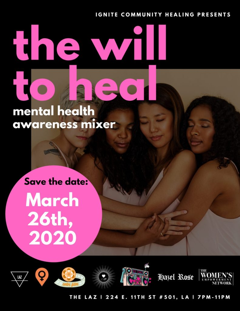 The Will to Heal: Mental Health Awareness Mixer