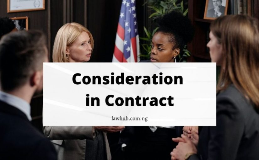 Consideration in contract