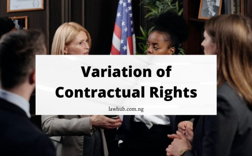 variation of contractual rights