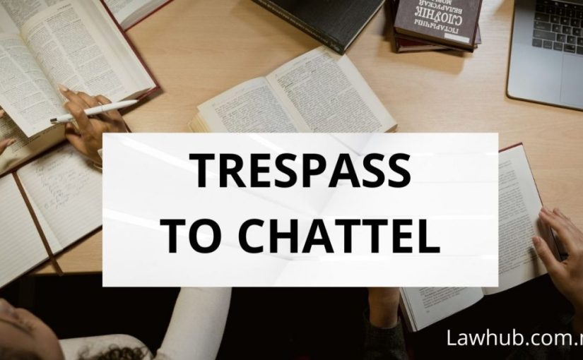 Trespass to Chattel (Law of Tort)
