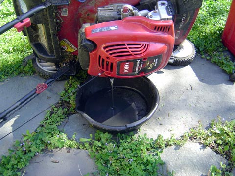 Change your lawn mower oil