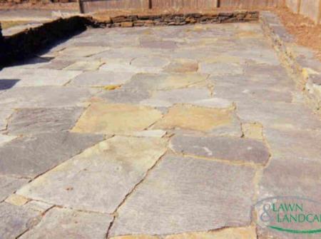 stone floor or driveway