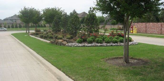 landscaping installation project