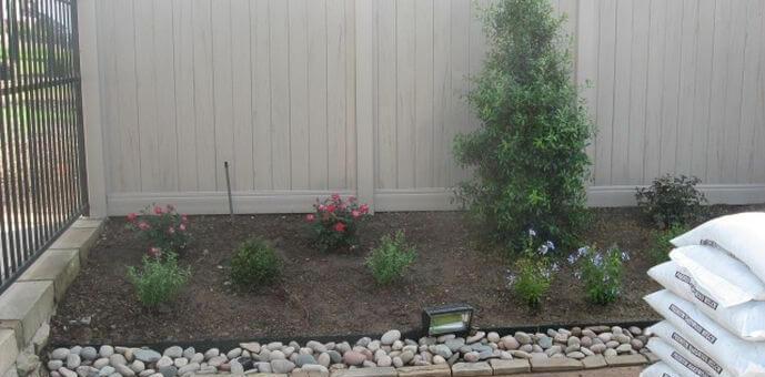 landscaping fences trees bush