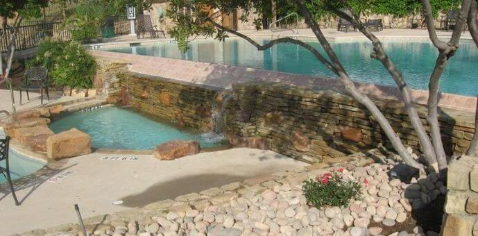 pool design brick with wading pool