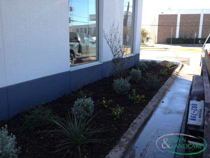 side garden bed installation project