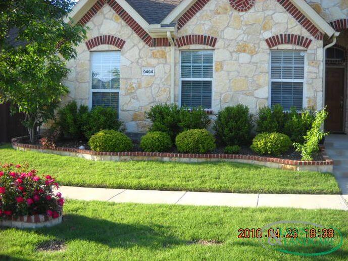 stone border lawn and landcare