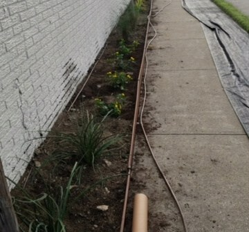 commercial landscaping example step 1