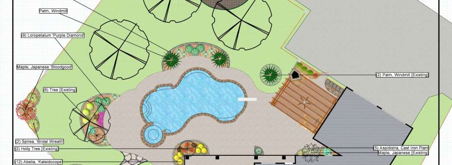 project blueprint for entire yard design