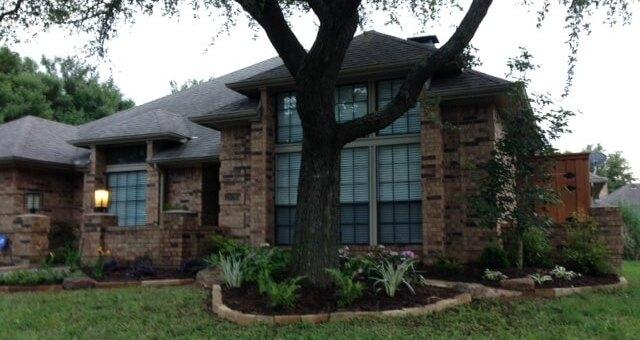 carrollton texas raised bed flower landscaping