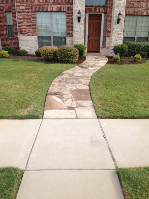hardscaping and masonry sidewalk for texas homes