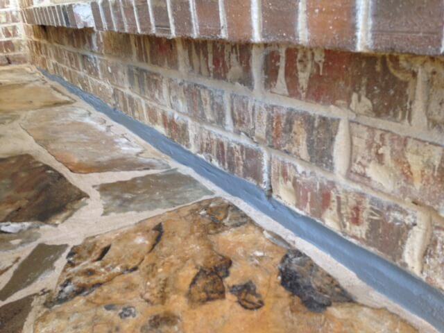 sealed brick foundation examples