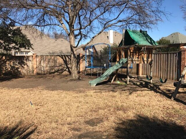 Landscape design playground plano texas