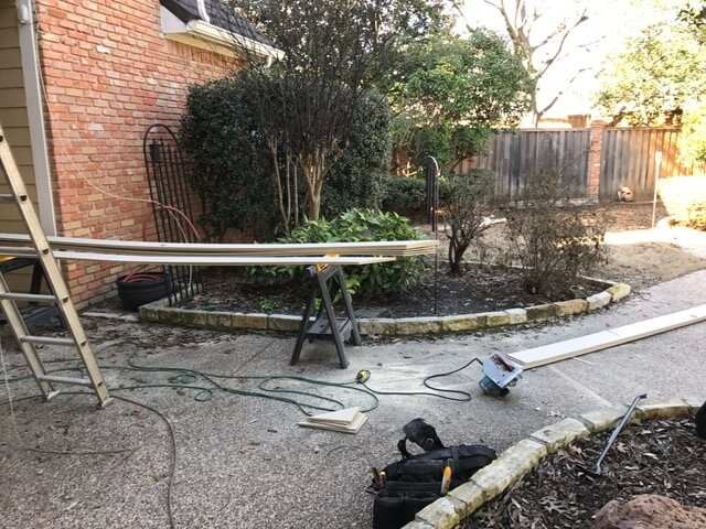 landscaping build in progress plano texas