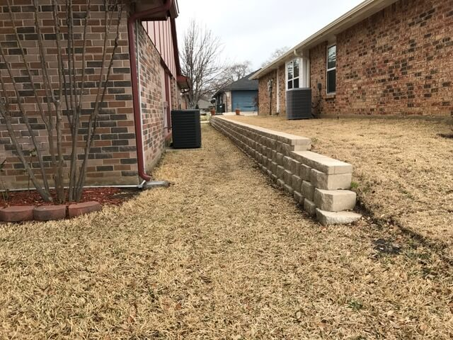 retaining wall example texas landscaping