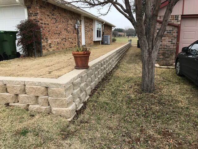 landscape stone design texas retaining wall