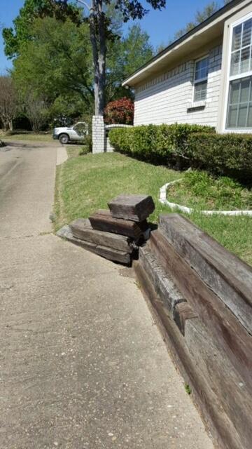 retaining wall example texas