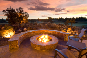Firepit retaining wall
