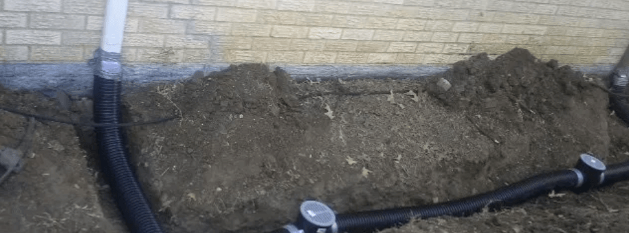French Drain Service in North Dallas