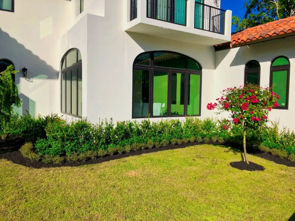 pink and green residential landscaping