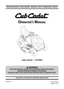 Cub Cadet LTX-1040 Manual Downloads