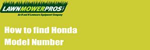 How to find Honda Model Number
