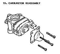 2-Cycle Carburetor Rebuilding Step 15