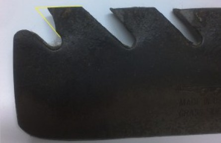 Worn Lawn Mower Blade