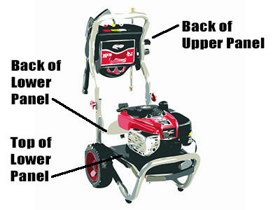 How to find pressure washer model number