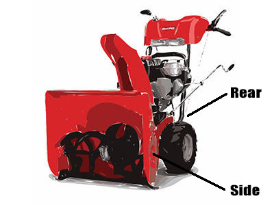 How to find snowblower model number