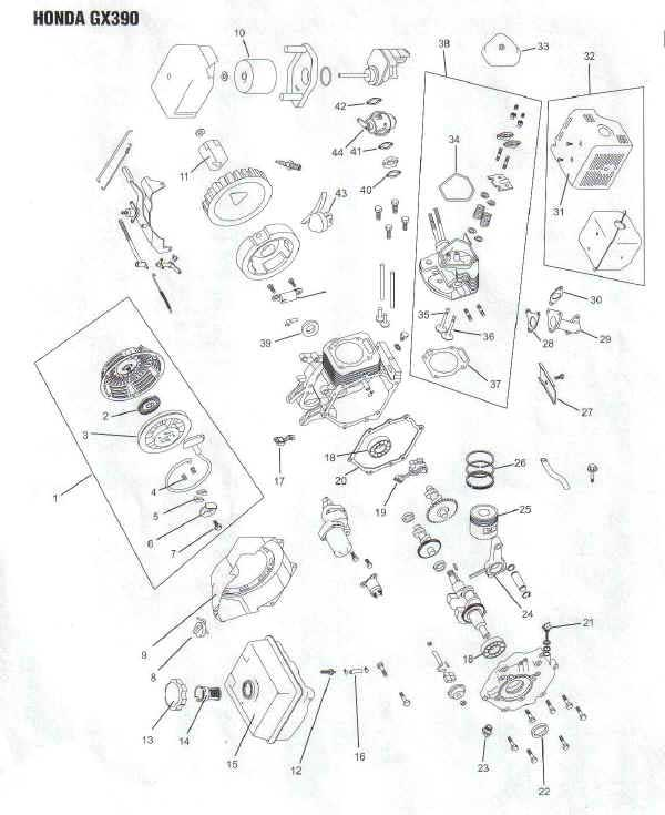 Honda Gx390 Wiring Diagram / Diagram Honda Gx 390 Wiring