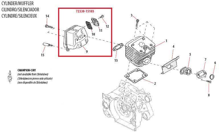 Shindaiwa 757EPA Chain Saw Parts Diagrams Online