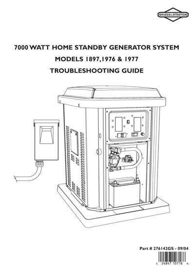 Briggs Stratton 276142GS 7Kw Generator Repair Guide