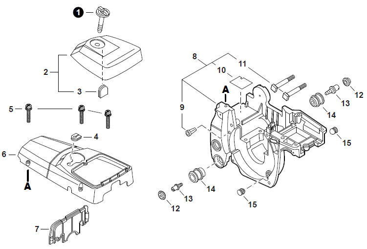 ECHO CS-400 Chainsaw Parts Diagram Serial Number
