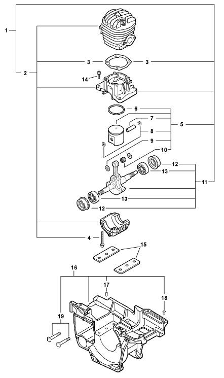 ECHO CS-450 Chainsaw Parts Diagram Serial Number