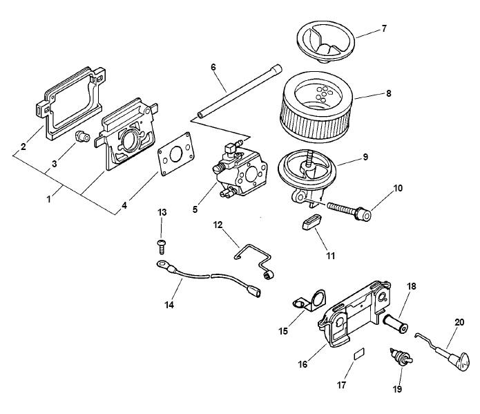 ECHO CS-510 Chainsaw Parts Diagram Serial Number 04001001