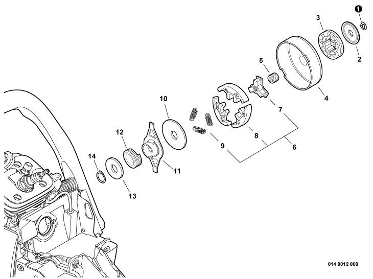 ECHO CS-600P Chainsaw Parts Diagram Serial Number