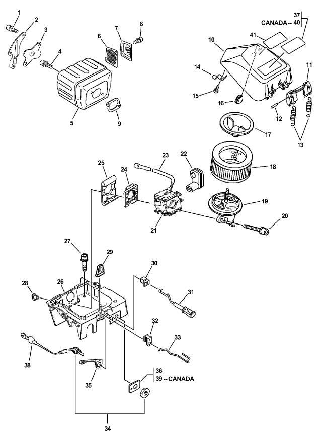 ECHO CS-670 Parts Diagram SN 04001001-04999999