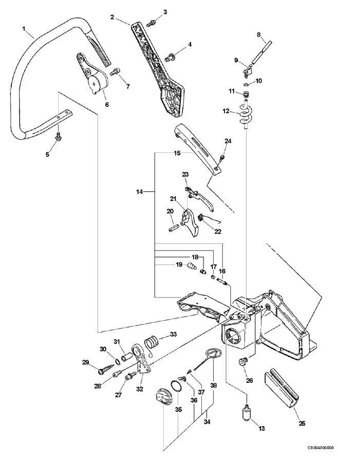 ECHO CS-670 Parts Diagram Serial Number 04001001-04999999