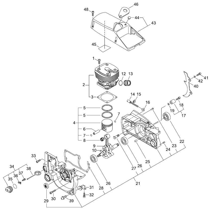 ECHO CS-800P Chainsaw Parts Diagram SN C30812001001